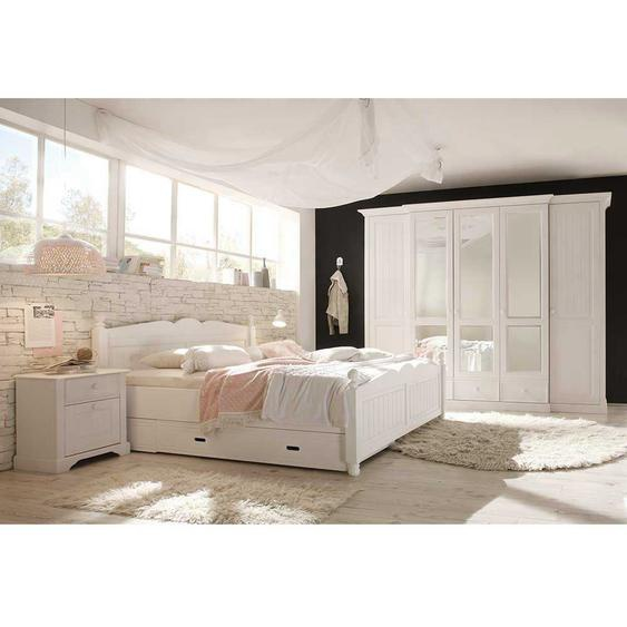 Schlafzimmer Komplettset im Landhausstil Wei� Kiefer (4-teilig)