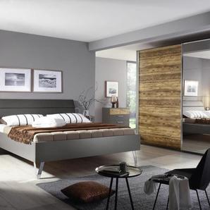Schlafzimmer Nando in graphit/Appenzeller Fichte-Optik, Liegeflächenbreite ca. 200 cm