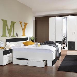 Schlafzimmer-Set »Freiburg« grau, mit Schubkästen, Wimex
