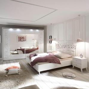 LC Schlafzimmer-Set , weiß, Mit Schwebetürenschrank Breite 270cm, FSC®-zertifiziert