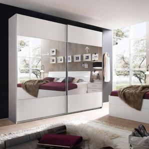 Schlafzimmer-Set, weiß, Set 2, mit Schubkästen,