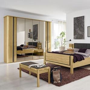 Schlafzimmer Sorrent in Eiche massiv/Schiefer-Optik, B/H ca. 300 x 236 cm