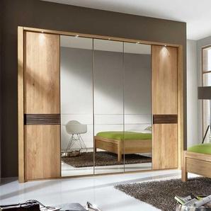 Schlafzimmerschrank aus Eiche mit Spiegeltüren