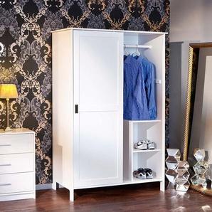 Schlafzimmerschrank in Weiß lackiert Kiefer massiv