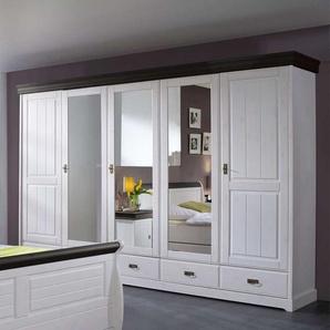 Schlafzimmerschrank in Weiß Kiefer Massivholz