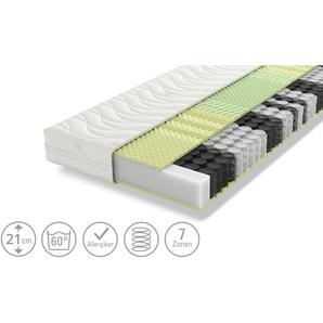 SCHLARAFFIA 7-Zonen-Taschenfederkernmatratze - weiß - 100 cm - 21 cm | Möbel Kraft