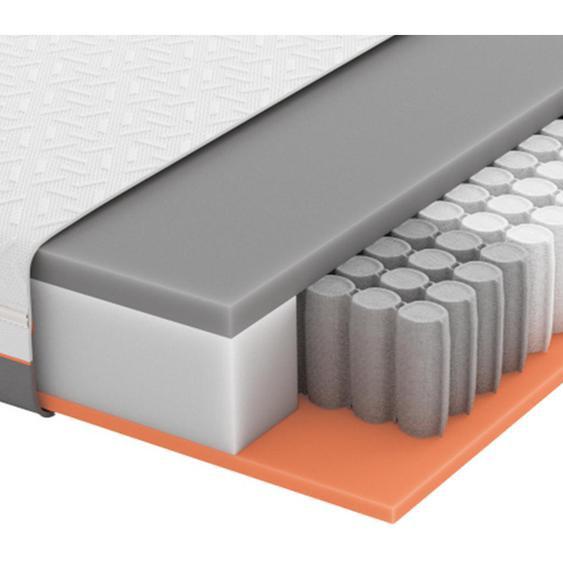 Schlaraffia Gel-Taschenfederkernmatratze Höhe ca. 22 cm , Weiß, Grau , Textil , H3=fest ab ca.80kg , 120x200 cm