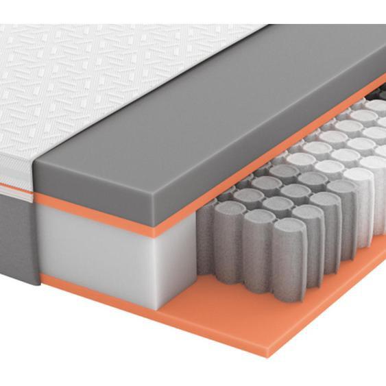 Schlaraffia Gel-Taschenfederkernmatratze Höhe ca. 26 cm , Weiß, Grau , Textil , H2=mittel bis ca.80kg , 140x200 cm