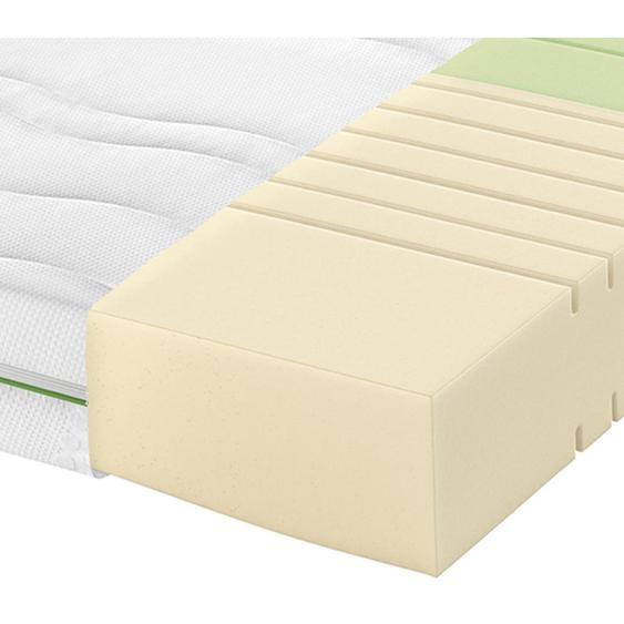 Schlaraffia Partnermatratze Kaltschaum Höhe ca. 18 cm , Weiß , Textil , H2+H3=mittel bis ca.80kg+fest ab ca.80kg , 180 cm