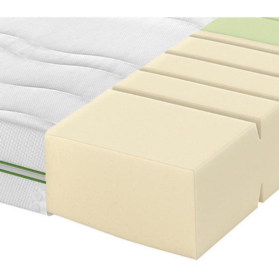 Schlaraffia Partnermatratze Kaltschaum Höhe ca. 20 cm , Weiß , Textil , H2+H3=mittel bis ca.80kg+fest ab ca.80kg , 200 cm