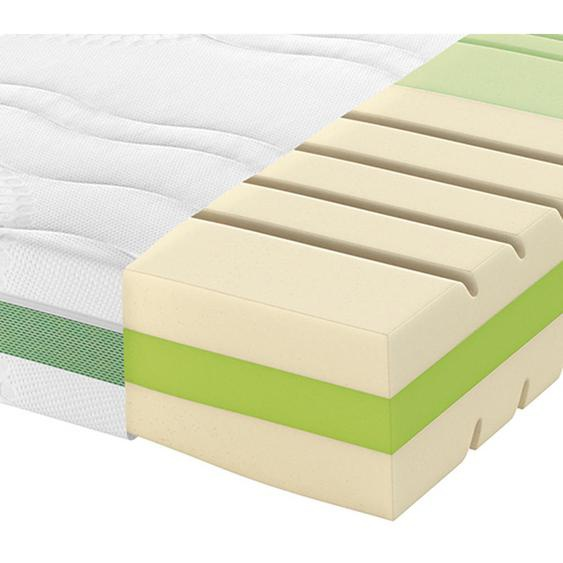 Schlaraffia Partnermatratze Kaltschaum Höhe ca. 22 cm , Weiß , Textil , H2+H2=mittel bis ca.80kg , 160 cm