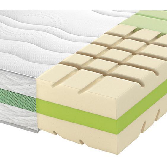 Schlaraffia Partnermatratze Kaltschaum Höhe ca. 24 cm , Weiß , Textil , H2+H2=mittel bis ca.80kg , 160 cm