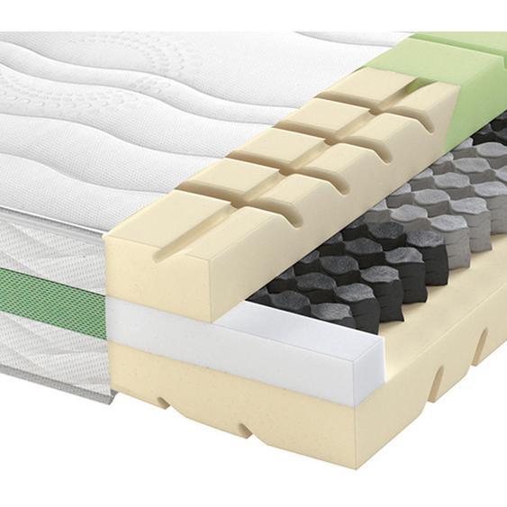 Schlaraffia Partnermatratze Taschenfeder Höhe ca. 24 cm , Weiß , Textil , H4+H4=sehr fest ab ca.100kg , 160x200 cm