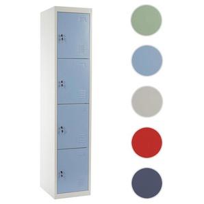 Schlie�fach Boston T163, Schlie�fachschrank Wertfachschrank Spind, Metall 180x38x45cm ~ blau