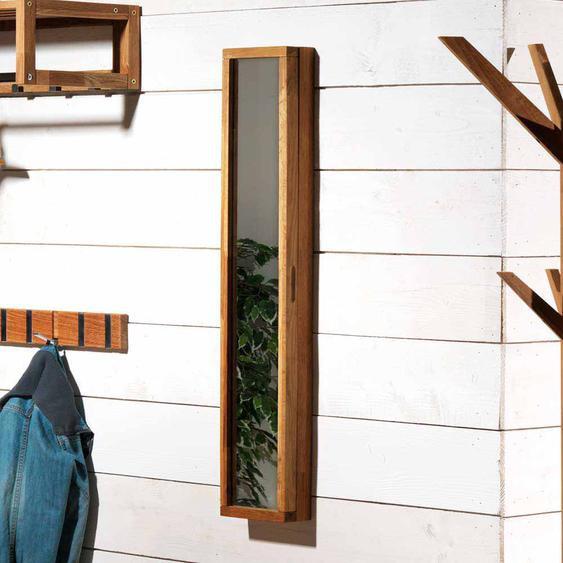 Schl�sselkasten mit Spiegel Eiche Massivholz