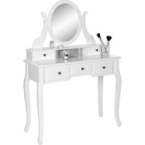 : Tisch, Kiefer, Weiß, B/H/T 97 142 40