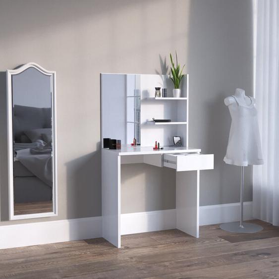 Schminktisch-Set Stuttgart mit Spiegel