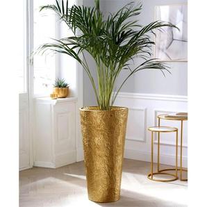 Schneider Bodenvase, Maße (H/Ø): 74/40 cm H: 74 Ø 40 goldfarben Blumenvasen Pflanzgefäße Wohnaccessoires Bodenvase