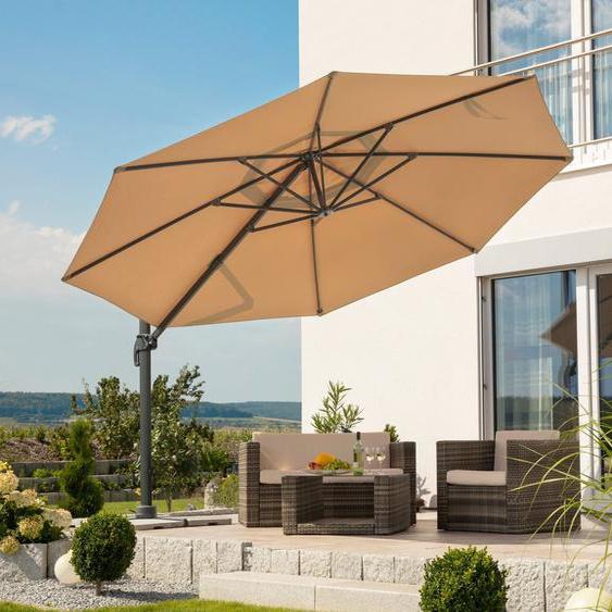 Schneider Schirme Ampelschirm »Rhodos Grande«, LxB: 400x457 cm, Inkl. Schutzhülle mit Schirmständer, ohne Wegeplatten