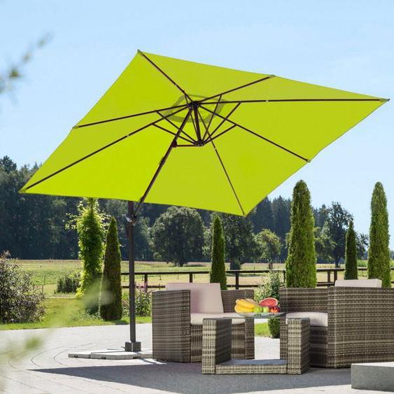 Schneider Schirme Ampelschirm »Rhodos Junior«, LxB: 270x270 cm, Inkl. Schutzhülle mit Schirmständer, ohne Wegeplatten