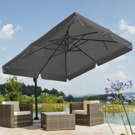 Schneider Schirme Ampelschirm »Rhodos«, LxB: 300x300 cm, Inkl. Schutzhülle mit Schirmständer, ohne Wegeplatten