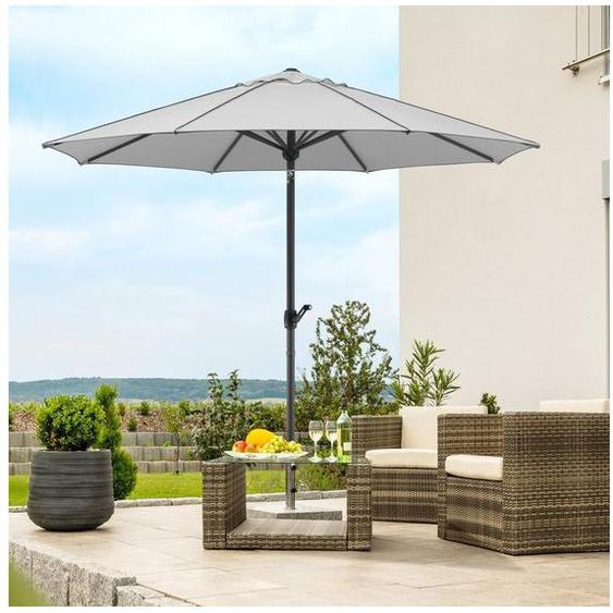 Schneider Schirme Marktschirm »Adria«, Durchmesser 300 cm, silbergrau, rund, ohne Schirmständer