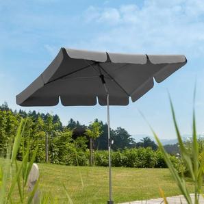 Schneider Schirme Rechteckschirm Locarno, abknickbar, ohne Schirmständer Einheitsgröße grau Sonnenschirme -segel Gartenmöbel Gartendeko