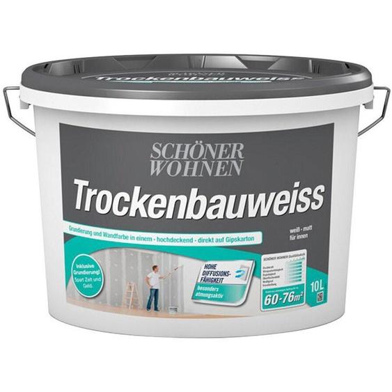 SCHÖNER WOHNEN-Kollektion Wandfarbe »Trockenbauweiß«, 5 l