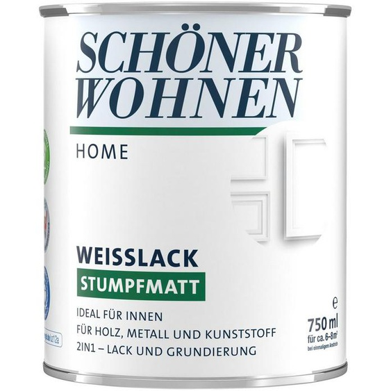 SCHÖNER WOHNEN-Kollektion Weißlack »Home«, stumpfmatt, 750 ml, weiß