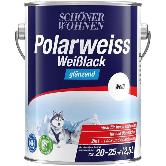 SCHÖNER WOHNEN-Kollektion Weißlack »Polarweiss«, glänzend, 2500 ml, weiß