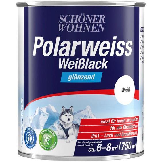 SCHÖNER WOHNEN-Kollektion Weißlack »Polarweiss«, glänzend, 750 ml