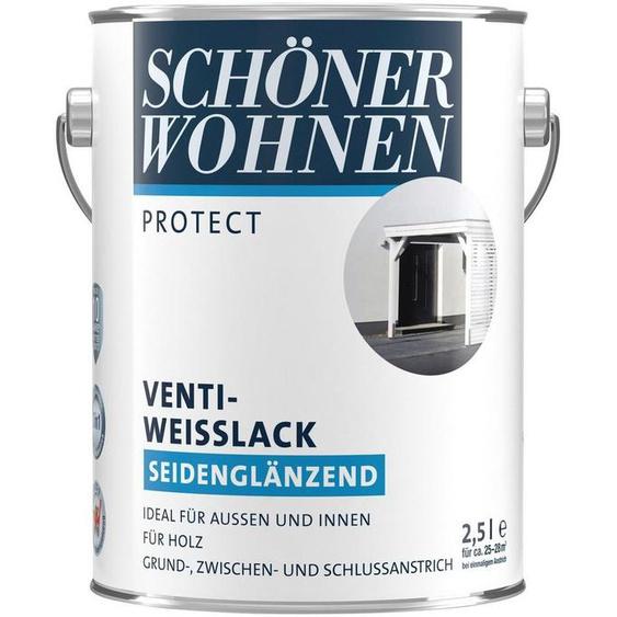 SCHÖNER WOHNEN-Kollektion Weißlack »Protect Venti-Weisslack«, seidenglänzend, 2500 ml