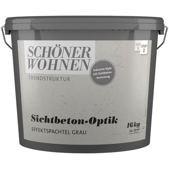 SCHÖNER WOHNEN-Kollektion Spachtelmasse »Sichtbeton-Optik Effektspachtel grau«, 16 kg