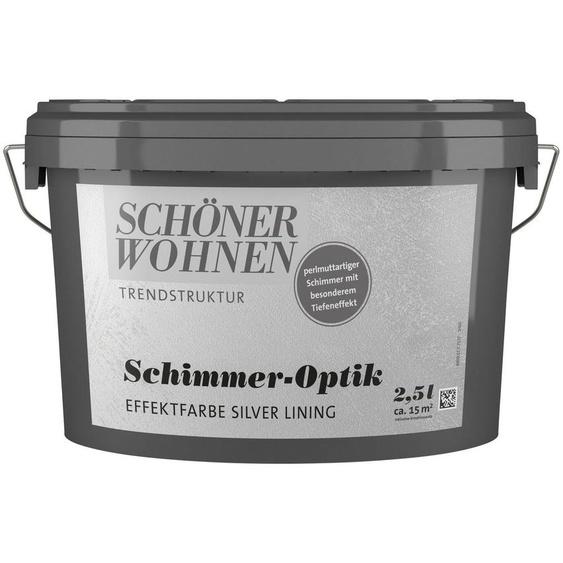 SCHÖNER WOHNEN-Kollektion Wand- und Deckenfarbe »Schimmer-Optik Effektfarbe silver lining«