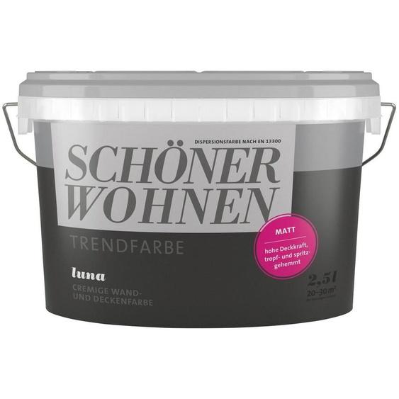 SCHÖNER WOHNEN-Kollektion Wand- und Deckenfarbe »Trendfarbe Luna, matt«, 2,5 l