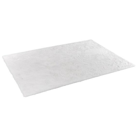 SCHÖNER WOHNEN-Kollektion Fellteppich, Weiß, Polyester 160 x 230 cm