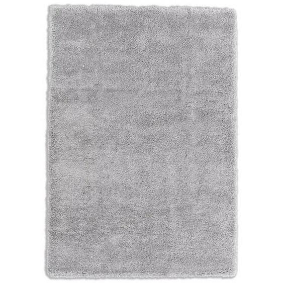 Schöner Wohnen Hochflorteppich 80/150 cm gewebt Grau , Textil , Uni , 80 cm