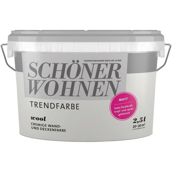 SCHÖNER WOHNEN-Kollektion Wand- und Deckenfarbe »Trendfarbe«, wool, 2,5 l