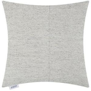 SCHÖNER WOHNEN Kissen  Panam - grau - 100% Federfüllung - 45 cm - 45 cm | Möbel Kraft