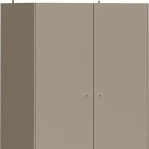 Schöner Wohnen-kollektion Drehtürenschrank »Monteo«, grau, mit 2 Schubkästen