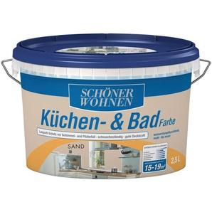 SCHÖNER WOHNEN FARBE Feuchtraumfarbe »Küche/Badfarbe, sand«, 2,5 l