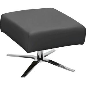 SCHÖNER WOHNEN-Kollektion Hocker Lineo 0, Leder NATURE grau Polsterhocker Sessel und Sofas Couches