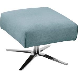 SCHÖNER WOHNEN-Kollektion Hocker Lineo 0, Velours MATRIX blau Polsterhocker Sessel und Sofas Couches