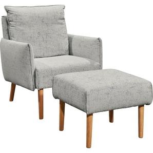 SCHÖNER WOHNEN-Kollektion Hocker Merit 5442 0, Flachgewebe LOLA silberfarben Polsterhocker Sessel und Sofas Couches