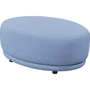 SCHÖNER WOHNEN-Kollektion Hocker Metropolitan 0, Flachgewebe VINTAGE blau Polsterhocker Sessel und Sofas Couches