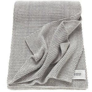 Schöner Wohnen Kuscheldecke, Grau, Baumwolle 130 x 170 cm