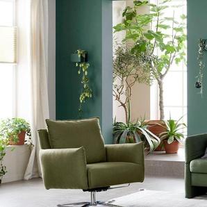 SCHÖNER WOHNEN-Kollektion Sessel Lineo 0, Flachgewebe IMPENDO grün Hocker SOFORT LIEFERBARE Möbel