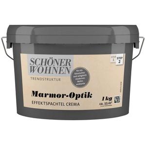 SCHÖNER WOHNEN FARBE Spachtelmasse »Marmoroptik Effektspachtel 1,0Kg crema«