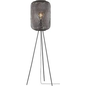 SCHÖNER WOHNEN-Kollektion Stehlampe, Schwarz, Bambus
