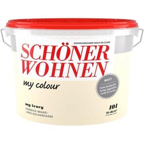 SCHÖNER WOHNEN FARBE Wand- und Deckenfarbe »my colour - my ivory«, matt, 10 l